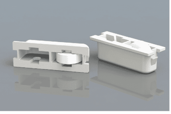 Window Roller Assembly - One Wheel Same Height