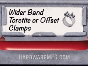 Wider Band Torctite or Offset Clamps